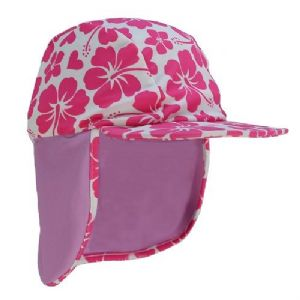Kidz Swimmers Baby and Girls UV Legionnaire Cap UPF 50+ Pink and Purple